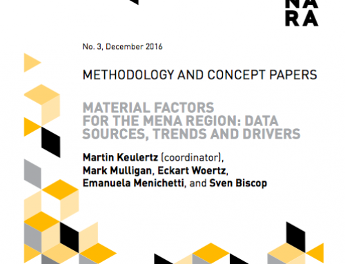 Material Factors for the MENA Region: Data Sources, Trends and Drivers