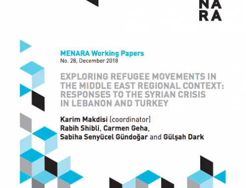 Exploring Refugee Movements in the Middle East Regional Context: Responses to the Syrian Crisis in Lebanon and Turkey