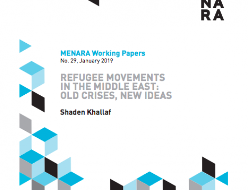Refugee Movements in the Middle East: Old Crises, New Ideas