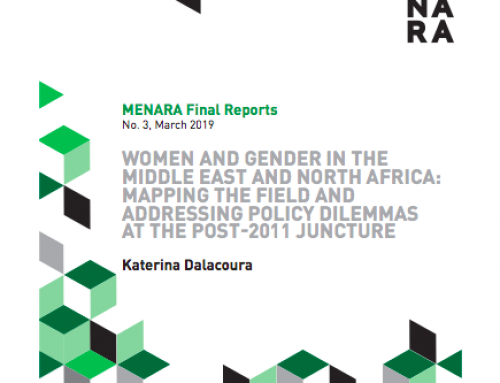 Women and Gender in the Middle East and North Africa: Mapping the Field and Addressing Policy Dilemmas at the Post-2011 Juncture